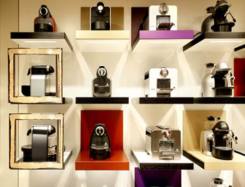 Máquinas Nespresso de venta en la boutique