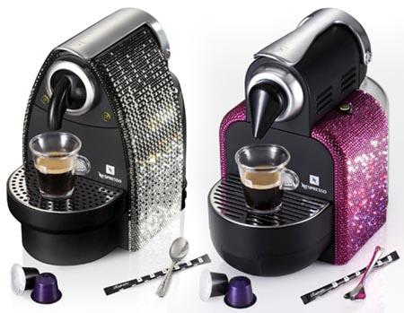Cafetera Nespresso de swarovsky
