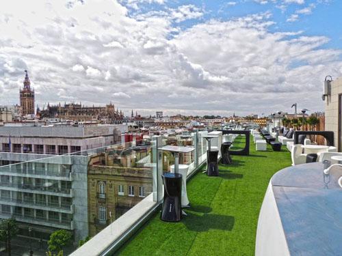 La Terraza Del Hotel Inglaterra La Sensación De Flotar
